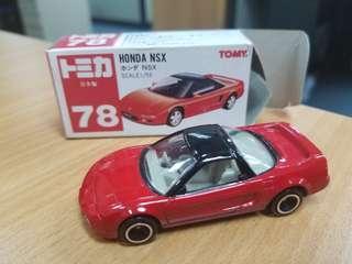 TOMICA TOMY No.78 HONDA NSX 日本製