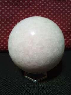 天然龍鳞瑪瑙球(直徑約12公分)