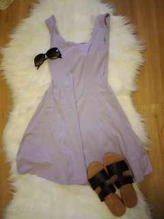 ASOS lilac dress scallop hem and neckline 8