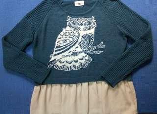 Stylish owl long sleeves