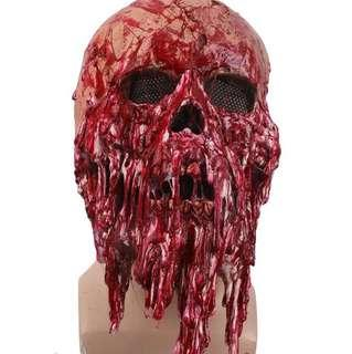 Halloween special melting mask zombie