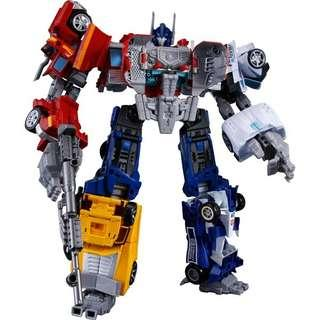 Transformer united warriors takara grand convoy combiners wars optimus