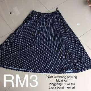 Skirt kembang payung polka dot