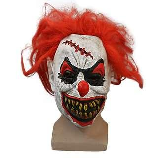 Halloween special horror clown with rotten teeth