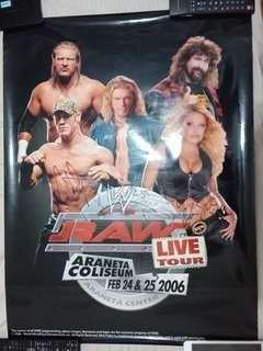 WWE posters with autographs hand signed by Wrestling Superstars