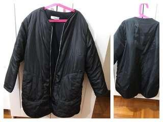 (Used) Korea style padded jacket with fleece lining 夾棉外套有抓毛內里