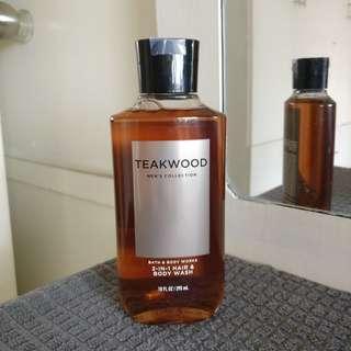 Bath & Body Works Teakwood Men's Collection 2-in-1 Hair & Body Wash
