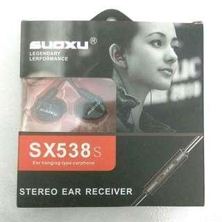 Suoxu SX538s Ear Hanging Type Carphones / Earphones
