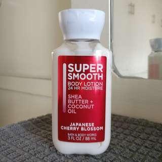 Bath & Body Works Super Smooth Body Lotion Japanese Cherry Blossom