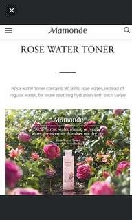 MAMONDE ROSE WATER TONER 500ML