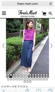 日本專櫃品牌free's mart 綁帶寬褲