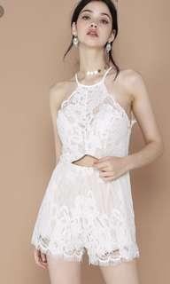0f8a3cb3372 The Editor s Market Gwyneth Lace Up Romper Dress