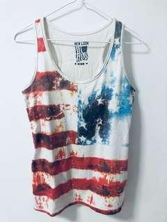 New Look Graphic Flag Singlet