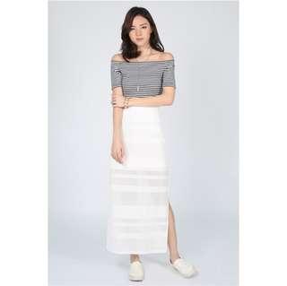 BNWT Love Bonito Adiera Jacquard Maxi Skirt