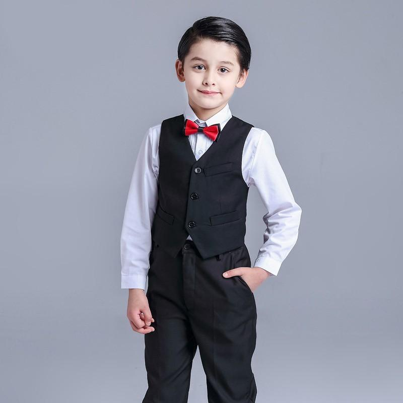 44cad70a8 4 pcs Baby Kids Toddler Boys Clothes Wedding Party Outfit Sets ...