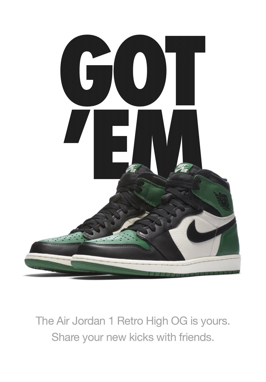 d4d7ab576da447 Air Jordan 1 Pine Green