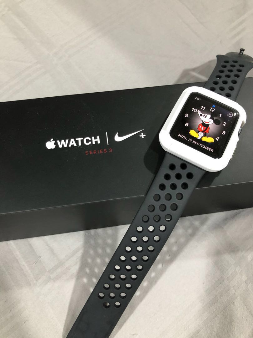 cualquier cosa periodista Agacharse  Apple Watch Nike+ Series 3 (GPS + Cellular) - 42mm, Electronics, Others on  Carousell