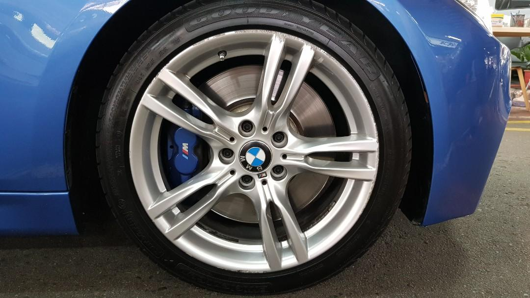Bmw F30 18 Inch Original M Performance Rims With Tire Car Accessories Tyres Rims On Carousell