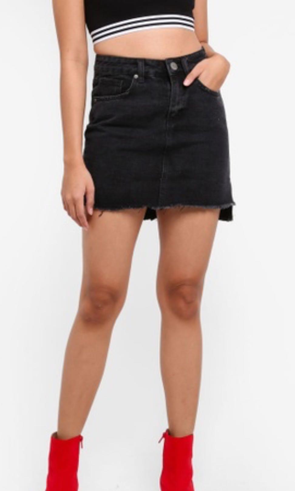 e8d1e1909dd2 BN Factorie Black Denim Skirt, Women's Fashion, Clothes, Dresses ...