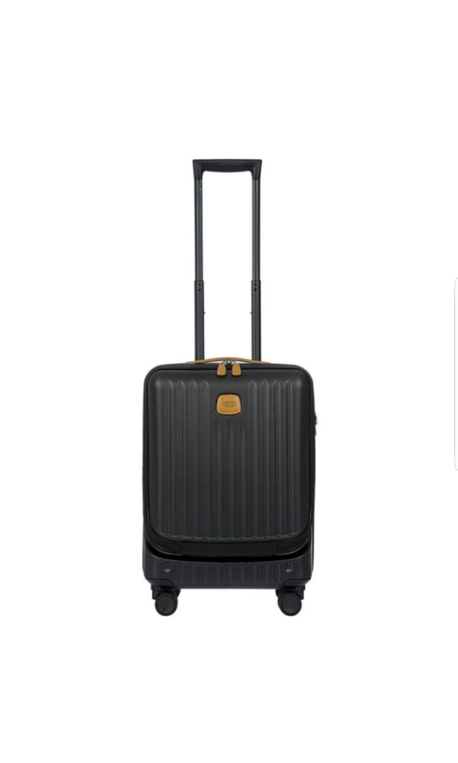 c4549d168a39 Bric's Capri 21 Inch Ultralight Carry on Suitcase Luggage Business Spinner  Trunk with Pocket Front Laptop Pocket Pouch