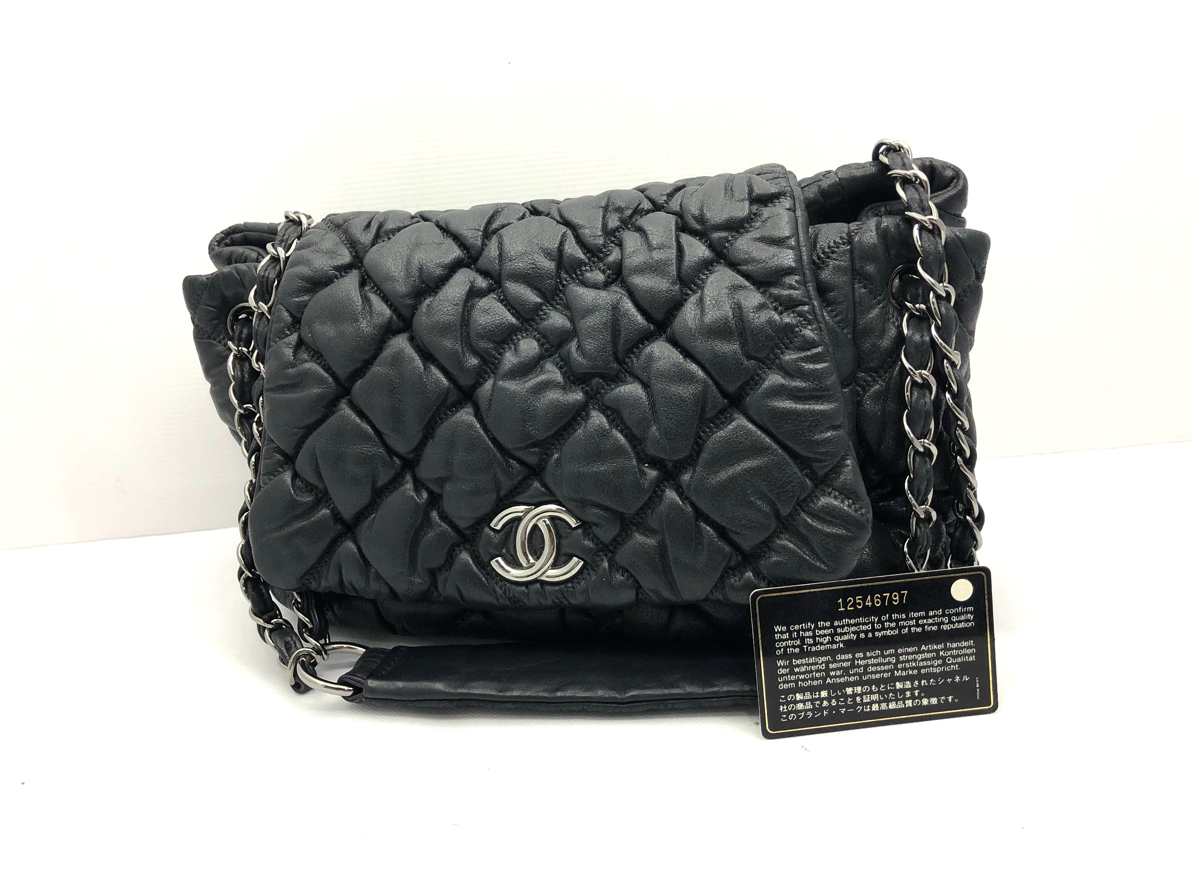 a14a4bc6d4cff CHANEL LEATHER CHAIN BAG 187002495