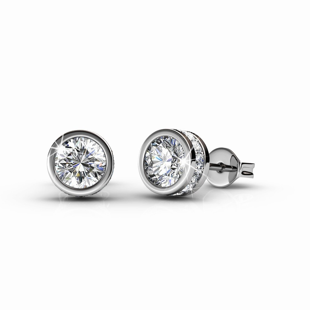 c3c3a021b Brand New in Box Glam Solitaire Earrings- Embellished with Crystal ...