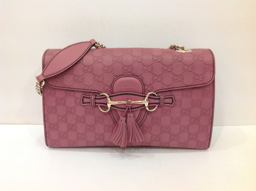 823483b98b02 GUCCI GUCCISSIMA MEDIUM EMILY CHAIN SHOULDER BAG, Luxury, Bags ...