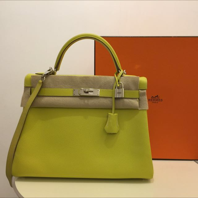 34ddced7a31c Hermes Kelly 32 Lime 9R