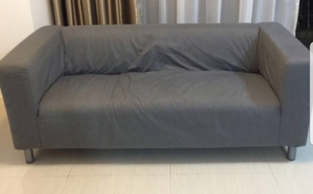 Ikea Sofa Cover Only Green And Grey Color Furniture Home Decor