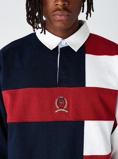e7d41f57b255 KITH X TOMMY HILFIGER COLOUR BLOCK RUGBY POLO, Men's Fashion ...