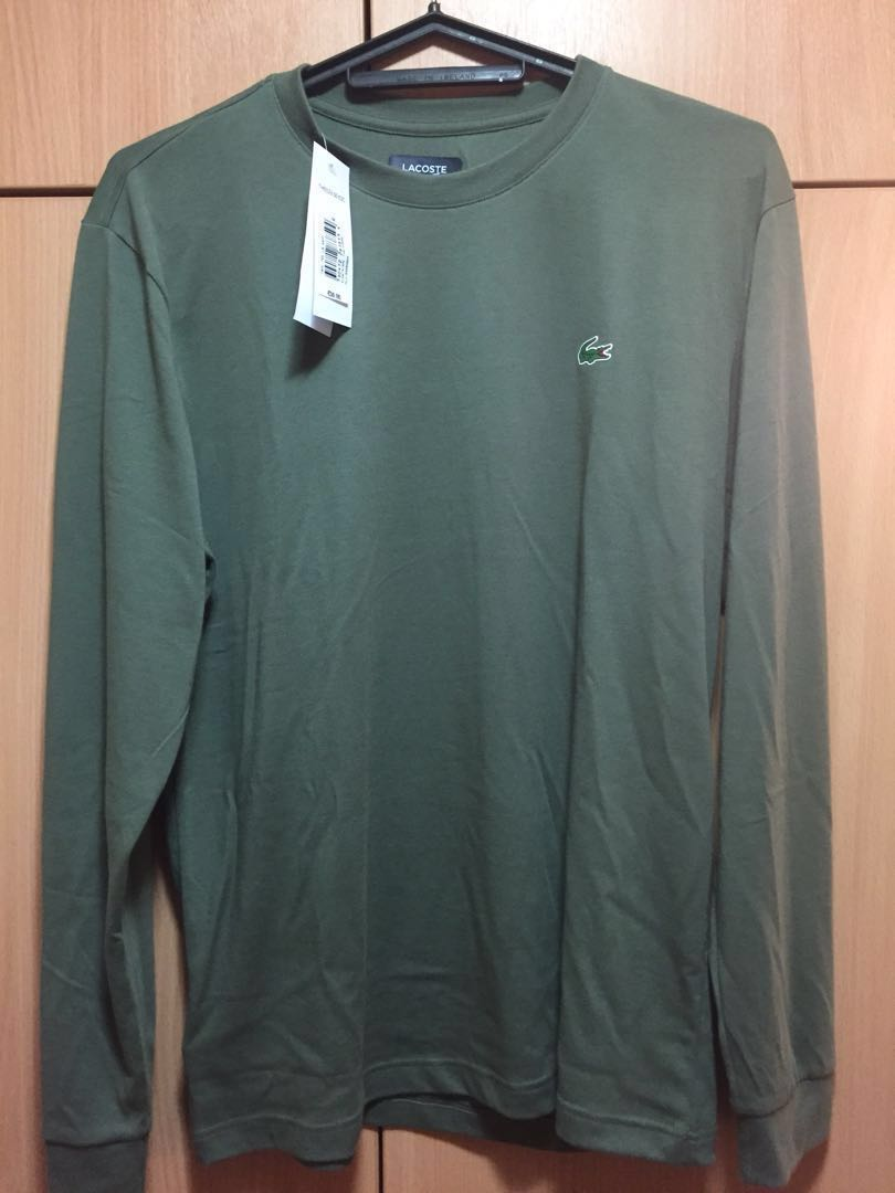 f1033f13 Lacoste Green Long Sleeve Tee Shirt