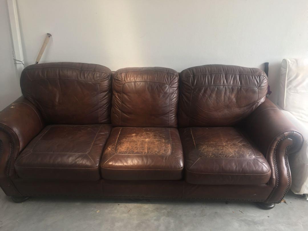 Phenomenal Large 2M Genuine Leather Sofa Interior Design Ideas Gentotthenellocom
