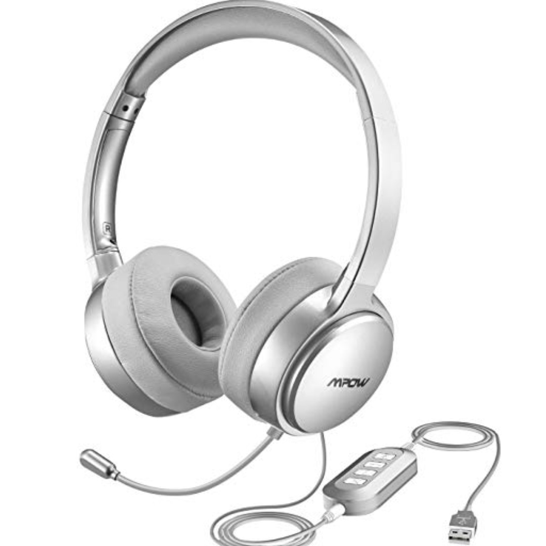 6d7505f724c MPOW MPBH125AS Wired USB Headset, Music & Media, Music Accessories ...