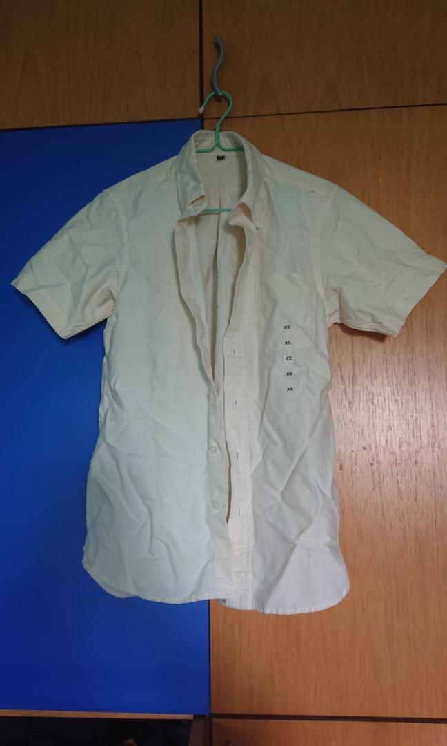5f6668e74f8 Muji yellow button down short sleeve shirt