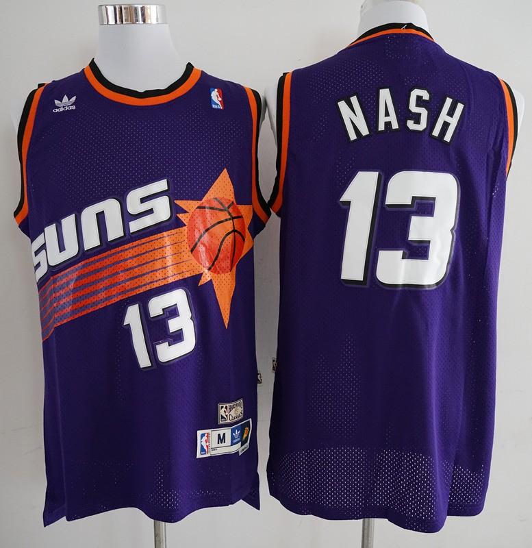 NBA Phoenix Suns Steve Nash Purple Vintage Swingman Jersey 645beca78