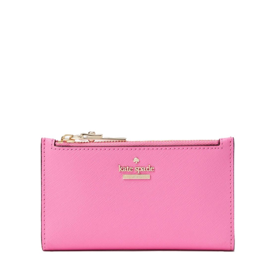 5d11ab768c114a NEW ARRIVAL Kate Spade Cameron Street Milkey Small Wallet Margrbloom ...