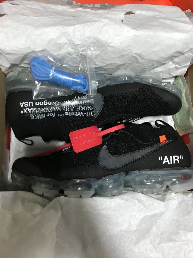 94090b8b249 Nike Air Vapormax x Off White Black 2.0 US12