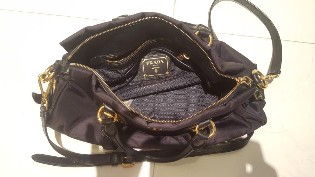 d934ad3073ea Authentic Prada Bauletto BN1903 Full Soft Calf Leather (Black / Nero),  Women's Fashion, Bags & Wallets, Handbags on Carousell