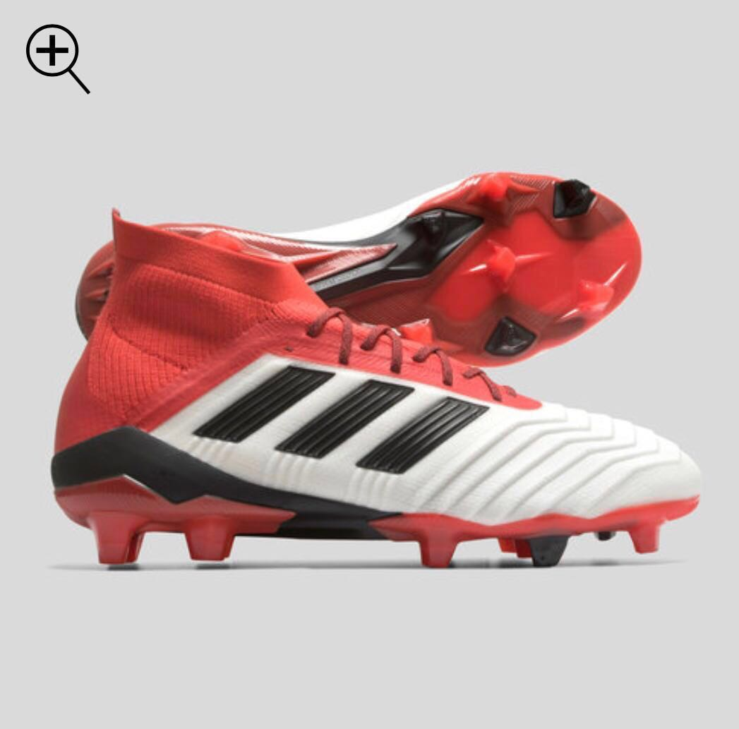 183516672fed Predator 18.1 FG (White/Core Black/Real Coral) Adidas soccer boots ...