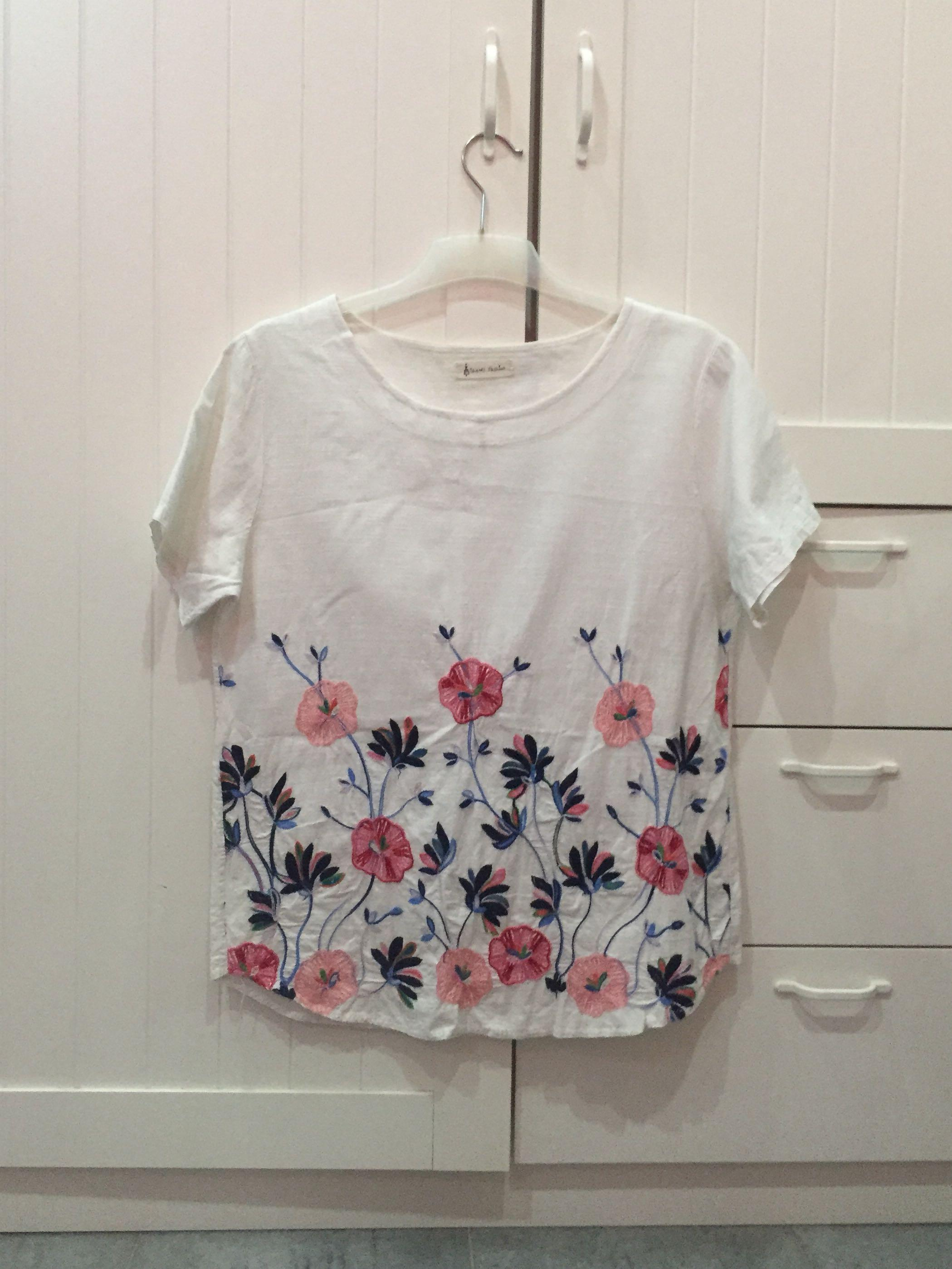 Premium Bordir Flower Top