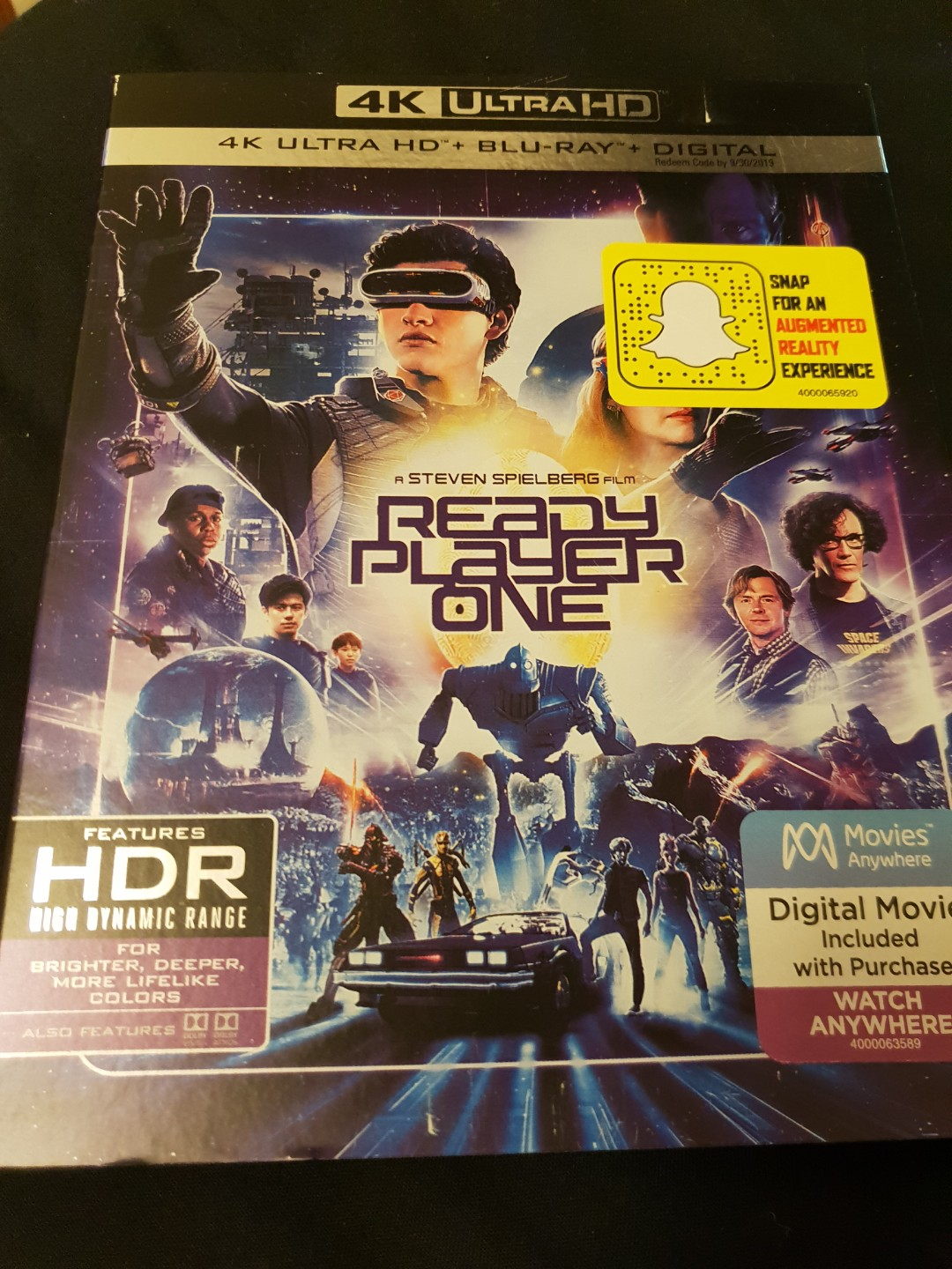 Ready player one 4k UHD and blu-ray movie