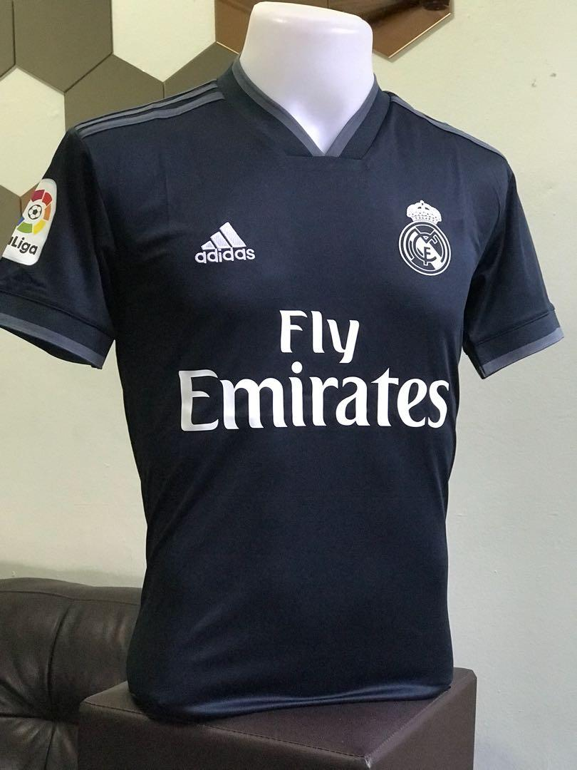 sports shoes 7080a 75979 Real Madrid Jersey 2018/19 away kits, Sports, Sports Apparel ...