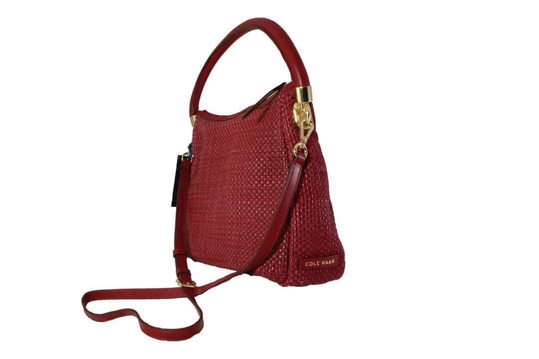 SALE‼ Authentic Cole Haan Benson Woven Crossbody Bag in Cabernet ... 8f39c54a83