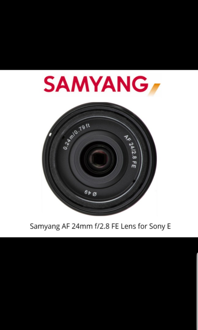Sony E Mount Full Frame Lenses >> Samyang Af 24mm F2 8 Fe Full Frame Lens For Sony E Mount