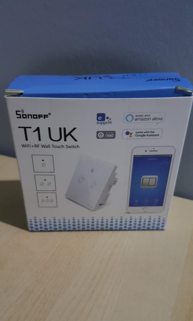 Sonoff T1 wifi wall touch switch (UK) 2 gang, Electronics