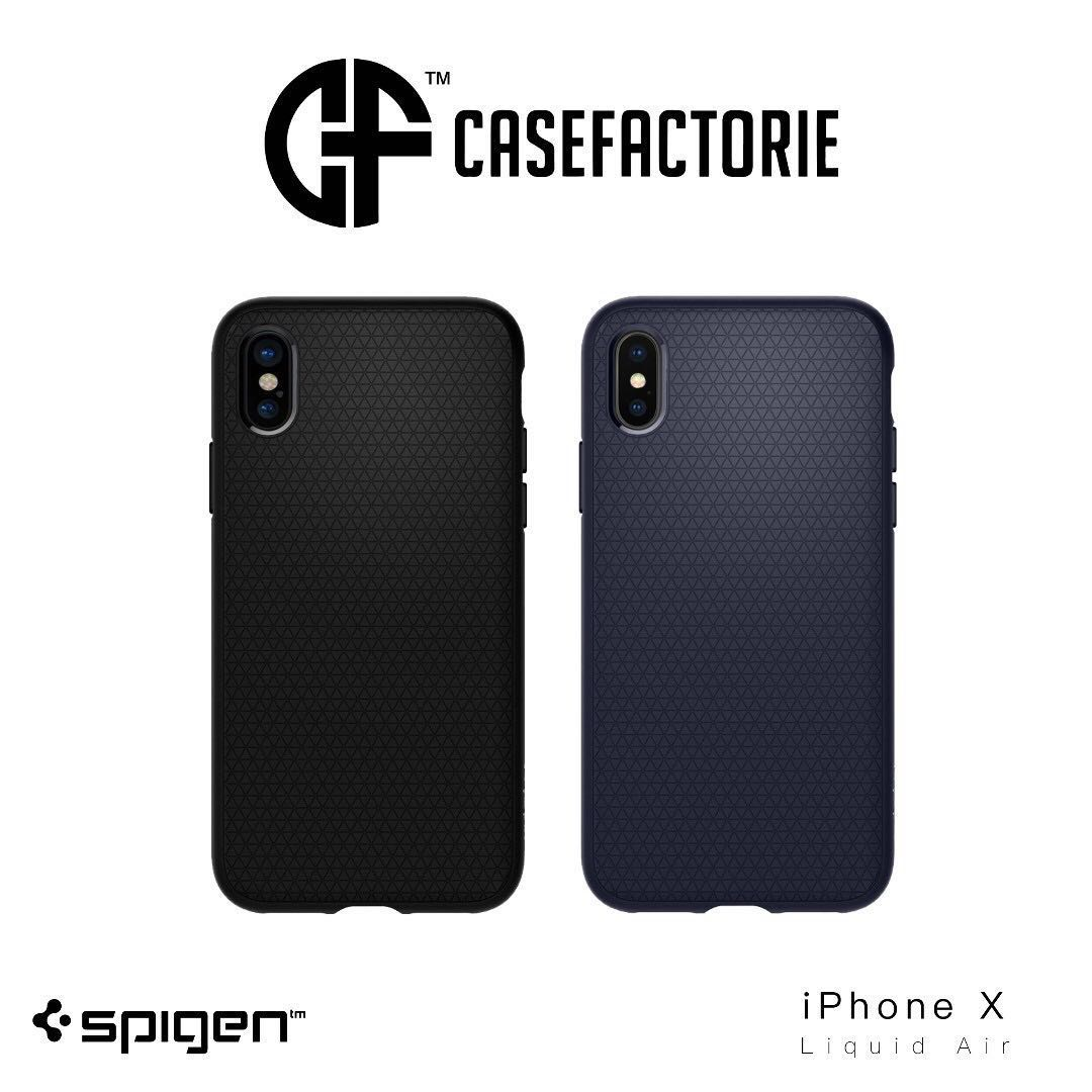 Spigen Liquid Air Case For Iphone X Mobile Phones Tablets 9 Anti Shock With Stand Slim Armor Original Casing Gunmetal Tablet Accessories Cases Sleeves On Carousell