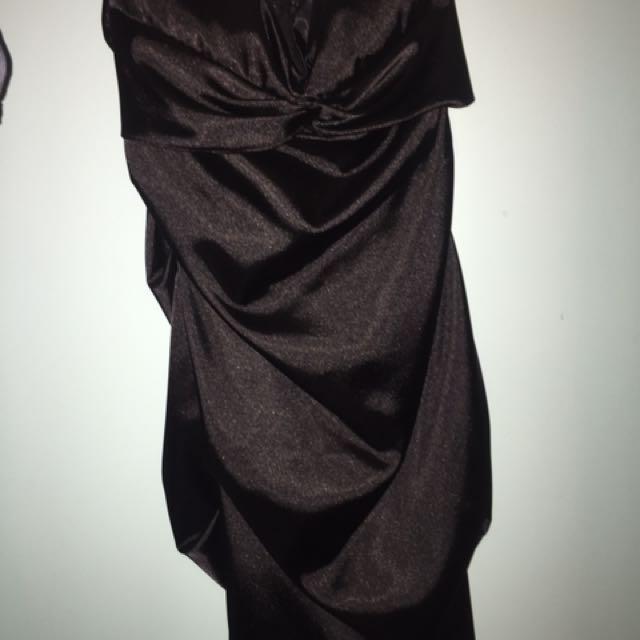 Strapless little black dress size Small / medium
