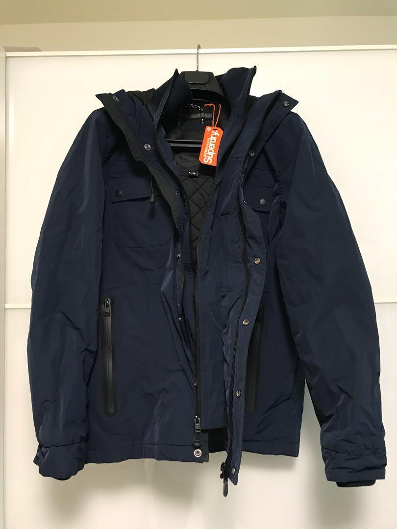 best sale modern techniques cozy fresh Superdry Super Dark Navy Vessel Jacket, Men's Fashion ...