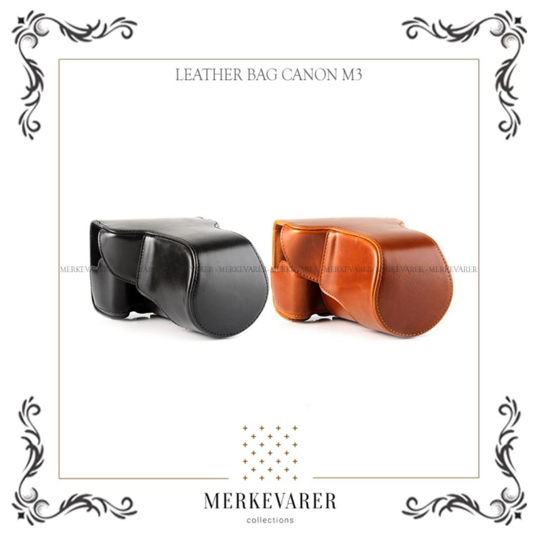 Tas Leather Bag Case Kamera Mirrorless Canon M3 Camera