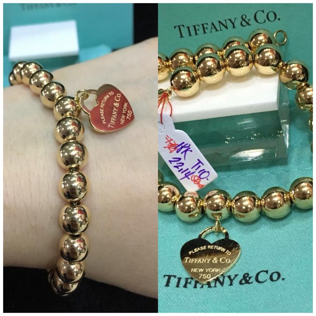 204c00a4801ae Tiffany & Co Beacelet: Genuine 18K|750 Gold, Women's Fashion ...